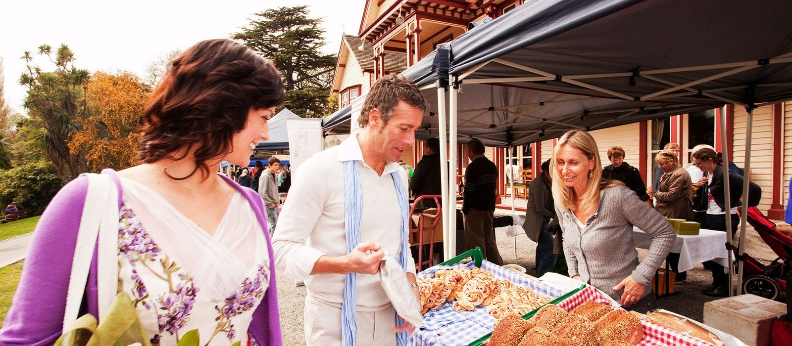 Couple At Christchurch Farmers Market